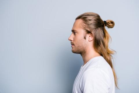 Erkek Uzun Saç Toplama Modelleri-6